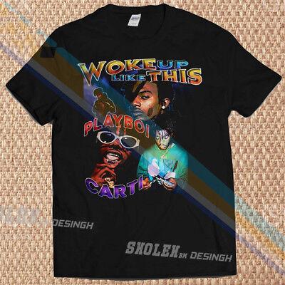 New Limited Playboi Carti Merch Tour Hip Hop Rare T-Shirt Gildan All Size a