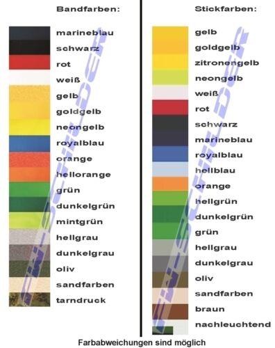 mit Stickrand,mit Klettband,12x2,5cm NOTARZT 1 Namenstreifen gestickt aus Köper