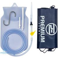 Clear Silicone Enema Bag Kit Precision Stopcock Tap, One-way Valve, Storage Bag