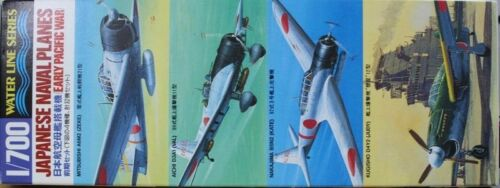 Tamiya 31511 1700 Waterline Series Model WWII Japanese Naval PlanesEarly Type