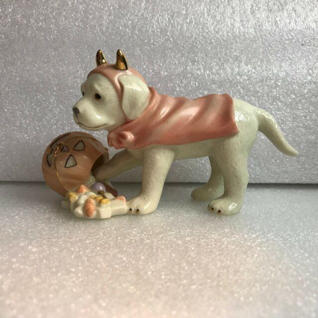 "LENOX Sweet ""LITTLE DEVIL"" Dog Retriever Halloween Pumpkin"