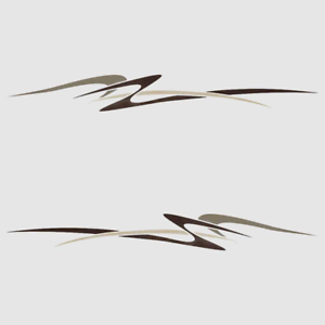 Palm Beach Boat Decals 139385-0597 x 11 Inch Brown Taupe 2PC