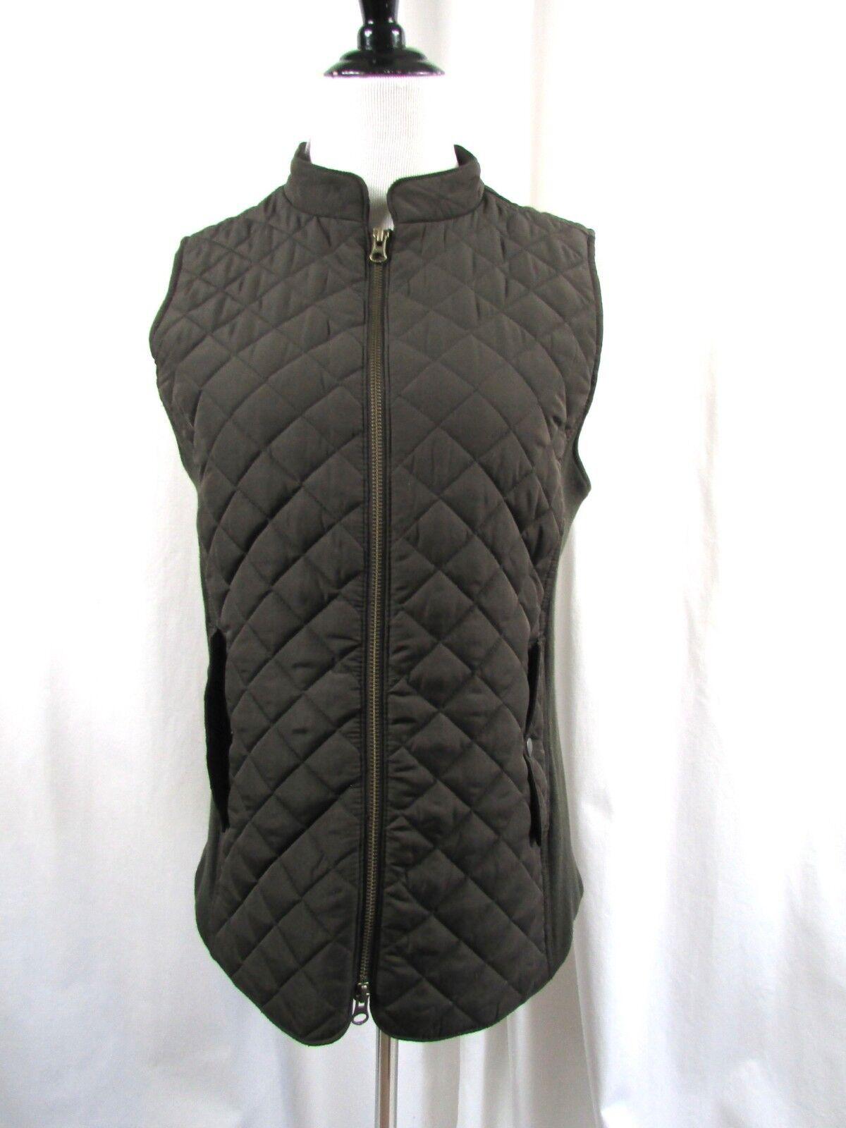 J Jill Brown Walnut Quilted Vest Size Medium M NWT NWT NWT c80e53