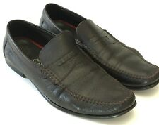 62ba4ad188fb9 ECCO Men s Size 10-10.5 EU44 Soft Leather Casual Moc Toe Slip On Penny  Loafer