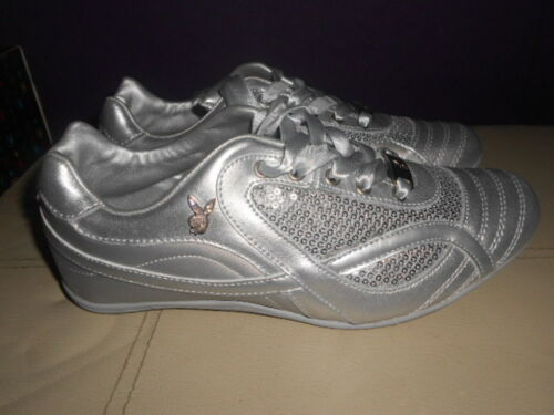 Womens 38 5 Trainers Silver Girls Taille Nouveau Boxed Playboy Uk qFUSWEW