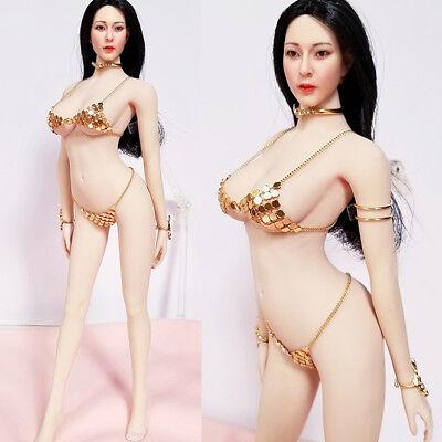 "HOT 1:6th Scale Silver Bikini Bracers Set For 12/"" PH JO Female Body Doll"