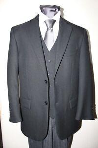 Black Herringbone Formal//Masonic//Lounge Jacket MJ-67.