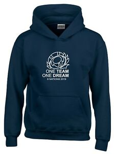 One Team One Dream Scotland Six Nations 2019 Kids Rugby T-Shirt