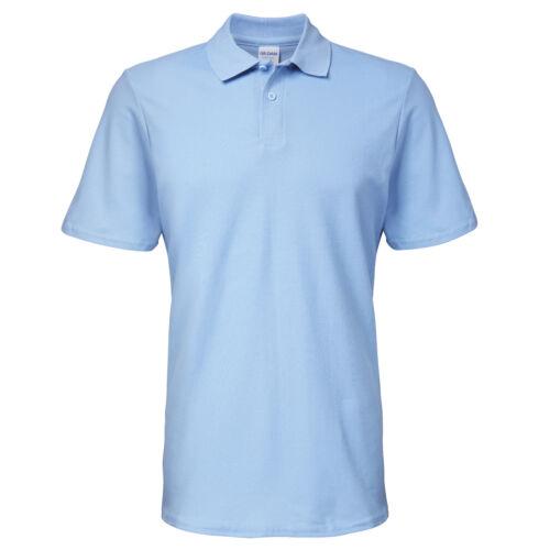 Gildan Softstyle Adults Double Pique Polo 64800-Sleek Short Sleeve Collared Tee