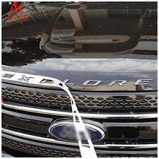 FM US! Black Graphite Hood Emblem Letters Letter Fit 11-2019 Ford Explorer Gloss