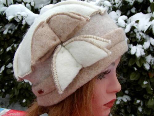 Damen Mütze Wollmütze beige von Mc Burn Wollhüte Wollmützen Damenhüte Anlasshüte