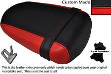 BLACK & RED CUSTOM FITS SUZUKI 600 750 GSXR 08-10 K8 K9 L0 REAR LTHR SEAT COVER