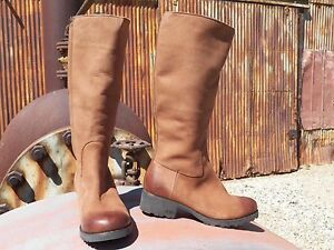 New Womens UGG Broome II Tall Leather Chocolate Sheepskin Boots All Sizes