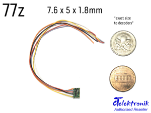new ct elektronik 77z 0 8a nano 6 wire dcc dcc dcc decoder (z n ho scale)  315d42
