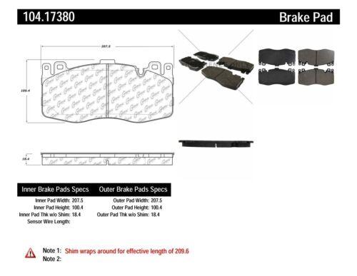 Disc Brake Pad Set Front Centric 104.17380