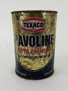 Vintage-Texaco-Havoline-Metal-1-Quart-Motor-Oil-Super-Premium