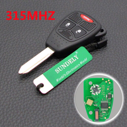 Dudely Remote Key 2 B 315 MHz w// Chip ID46 fit for Chrysler Dodge Jeep FCC OHT
