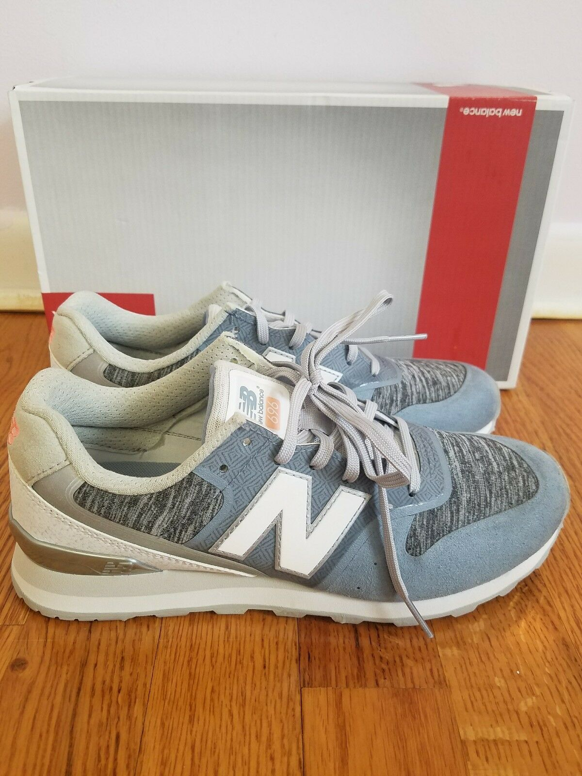 new balance 696 re-engineered women's sneakers  blue size 6 new in a box