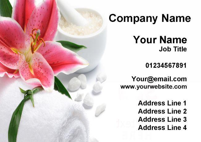 Massage Treatment Spa Beauty Salon Personalised Business Cards