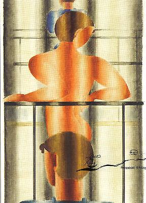 Oskar Schlemmer 1922 Drahtfigur Postcard Art Kunstkarte