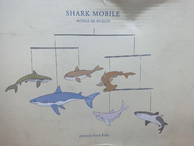 Pottery Barn Kids Shark Mobile Brand New See
