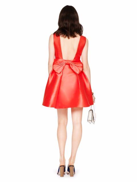 c670023e628 Kate Spade Fancy Meeting You Size 8 Geranium Open Back Silk Mini ...