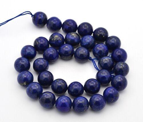 Lapis lazuli perlas 6mm alrededor de naturaleza Edelstein semipreciosas lapis lazuli g389