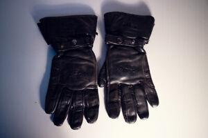 Handschuhe-Gloves-Racer-Touring-schwarz-Leder-Groesse-M-Motorrad