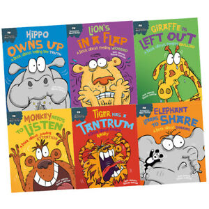 Sue-Graves-6-Books-Collection-Set-Pack-Behaviour-Matters-Hippo-Owns-Up-Lion-039-s
