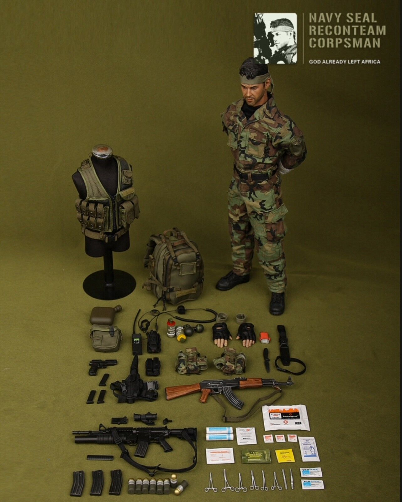 DAMTOYS 1 6 scale US Navy Seal Recon Team 'Corpsman' Boxed figure