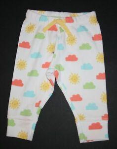 New-Gymboree-Girls-or-Boys-Colorful-Clouds-Sunshine-Soft-Knit-Pants-3-6m-6-12m