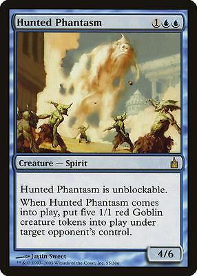 4 PLAYED Hunted Phantasm Blue Ravnica City of Guilds Mtg Magic Rare 4x x4