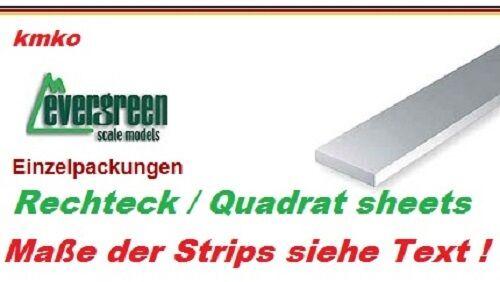 35 cm lang 8 Stck. Evergreen No.168 plastic strips sheets 2,0 x 4,8 mm