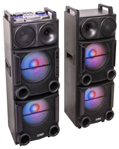 PARTY PARTY-BOX412 BESCHALLUNGSANLAGE USB SD BLUETOOTH 1200W LAUTSPRECHER DJ PA