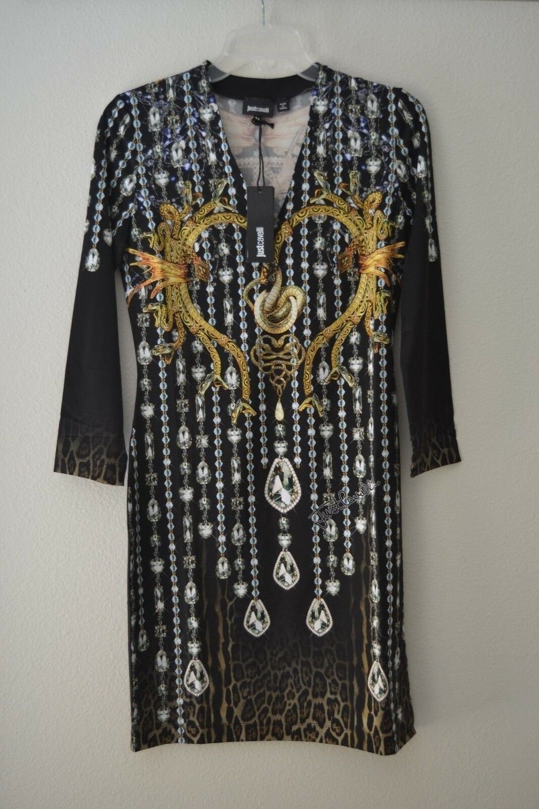 Just Cavalli Womens Printed 3 4 Sleeve Bodycon Bodycon Bodycon Dress Choose Size NWT b95a8a
