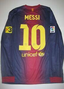 e632885a3a0 FC Barcelona Lionel Messi Jersey Trikot Maglia Kit Long Sleeve 2012 ...
