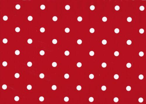 Klebefolie Möbelfolie Rot Punkte Dots 45 cm x 200 cm Dekorfolie selbstklebend