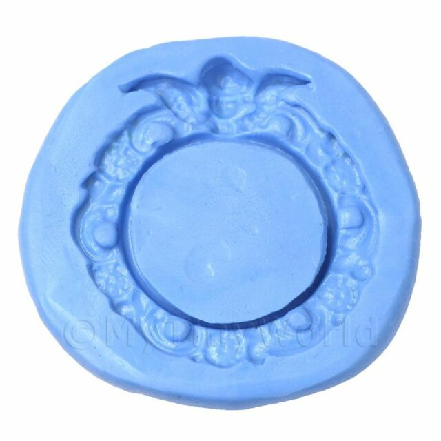 Dolls House Miniature Reusable Round Frame Silicone Mould