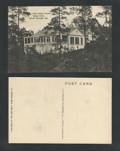 1940s-LITTLE-WHITE-HOUSE-WEST-VIEW-WARM-SPRINGS-GEORGIA-POSTCARD