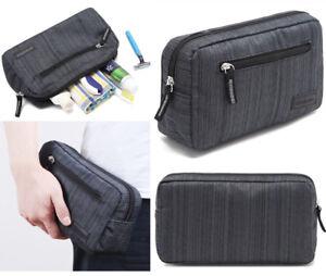 Mens-Dark-Grey-Toiletries-Bag-Shower-Organizer-Kit-Case-Handy-41