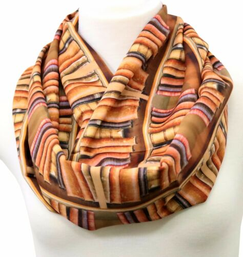 Book infinity scarf for literary lovers bookworm birthday gift for her geek nerd