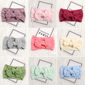 Baby-Girls-Bunny-Rabbit-Bowknot-Turban-Nylon-Headband-Elastic-HairBand-Headwrap