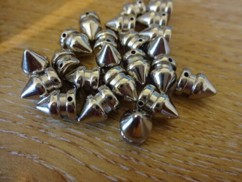 CCB Silver Plated Acrylic Cone Spacer Beads 4 Tasbih Rosary Bracelets 9mm x 7mm