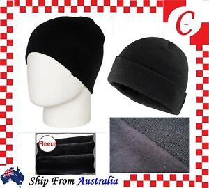 Men Women Winter Warm Ski Plain Knit Thermal Insulation Beanie Fleece Hat Cap