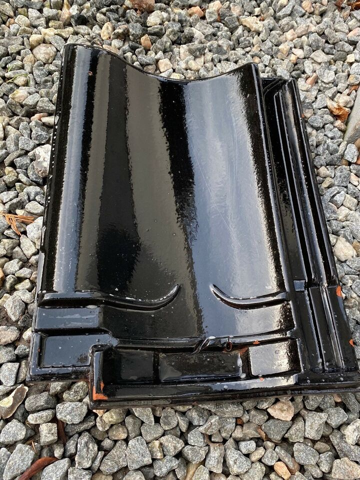Teglsten sort glaseret, Koramic Narvik, b: 26 l: 36