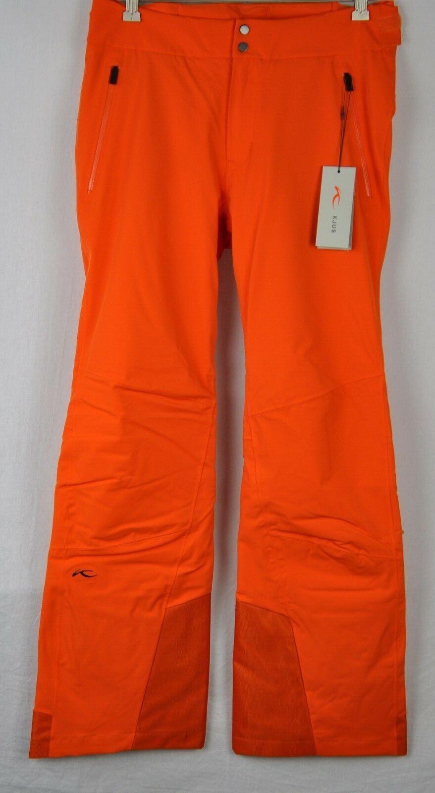 Kjus Mens Formula Insulated Ski Snow Pants MS20-E03S Kjus orange Size 54 Short