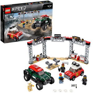 Lego-Speed-Champions-75894-1967-Mini-Cooper-amp-2018-Mini-ab-8-481pcs