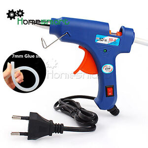20W Electric Heating Hot Melt Glue Gun 7mm Klebstoff Stick Repair Tool