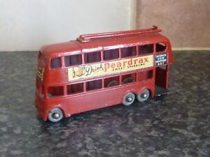 VINTAGE LESNEY-MATCHBOX 1-75 SERIES No.56a LONDON TROLLEY BUS DRINK PEARDRAX