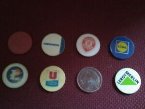 Détails Sur Lot 8 Jetons Caddie Plastique Caddy Token Lidl Casino Leclerc Leroy Merlin Super